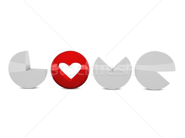 Sevmek 3d render biçim metin yalıtılmış beyaz Stok fotoğraf © OneO2