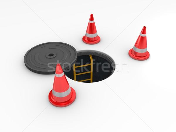 Manhole Stock photo © OneO2