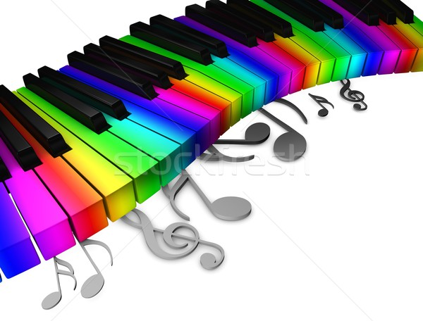 Colorful piano keys Stock photo © OneO2