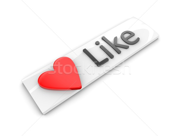 Like web button Stock photo © OneO2