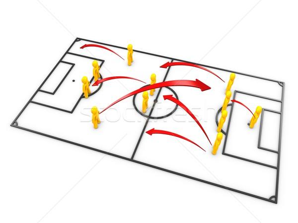 football strategy Stock photo © OneO2