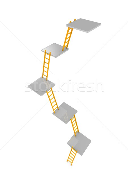 level of ladders Stock photo © OneO2