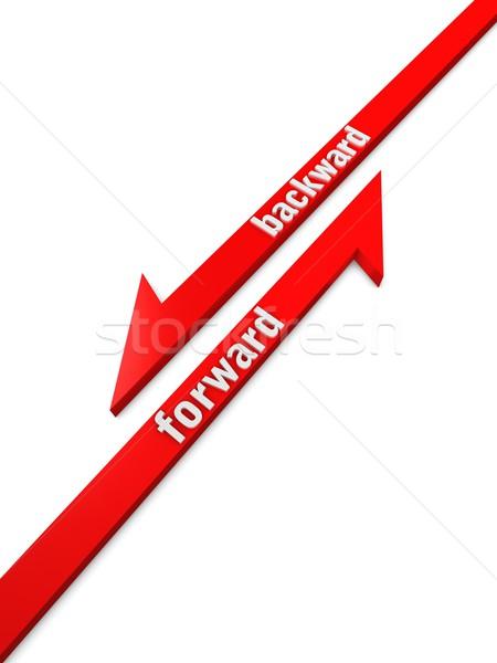 Forward Backward Stock photo © OneO2