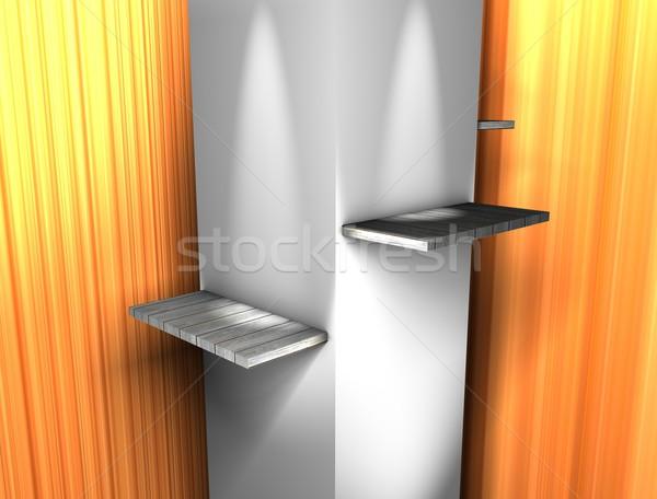 Display shelfs Stock photo © OneO2