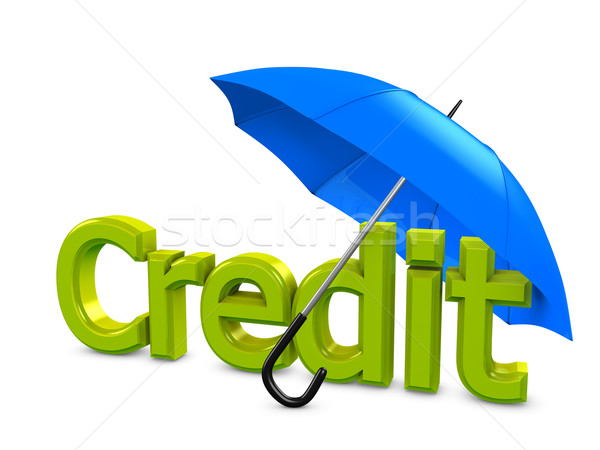 Credit umbrella Stock photo © OneO2
