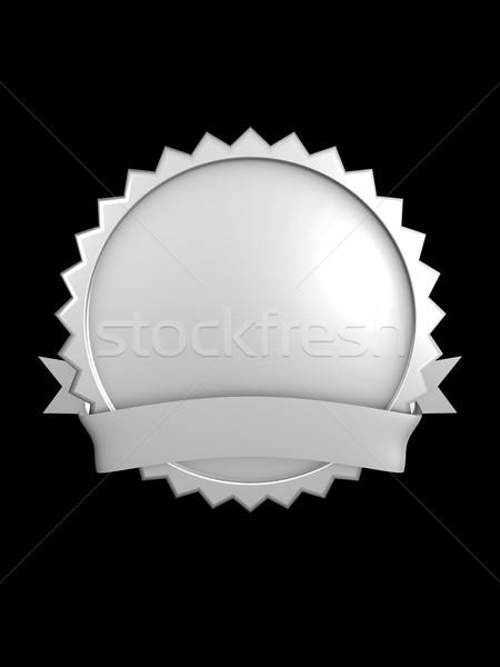 Zilver merk 3D afbeelding best badge Stockfoto © OneO2