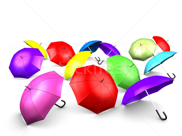 Umbrellas Stock photo © OneO2