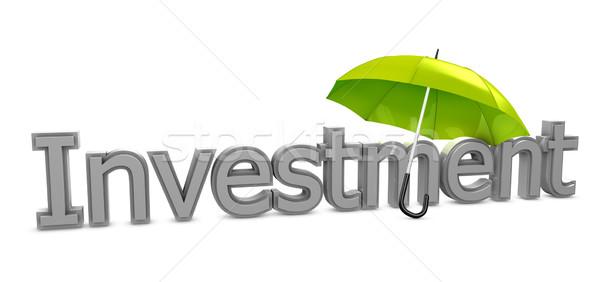 Investment umbrella Stock photo © OneO2