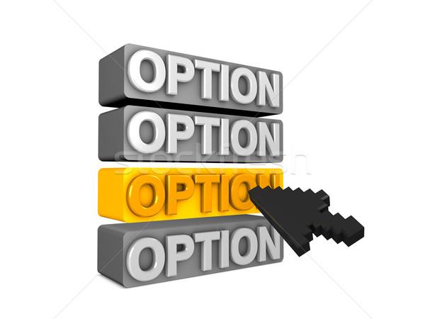 Opció 3D kép lehetőségek menü háló Stock fotó © OneO2