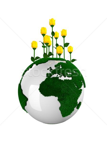 плодородный планеты земле цветы Top изолированный Сток-фото © OneO2