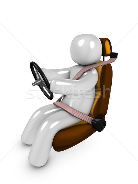 Stok fotoğraf: Güvenlik · 3D · görüntü · sürücü · araba · hızlandırmak