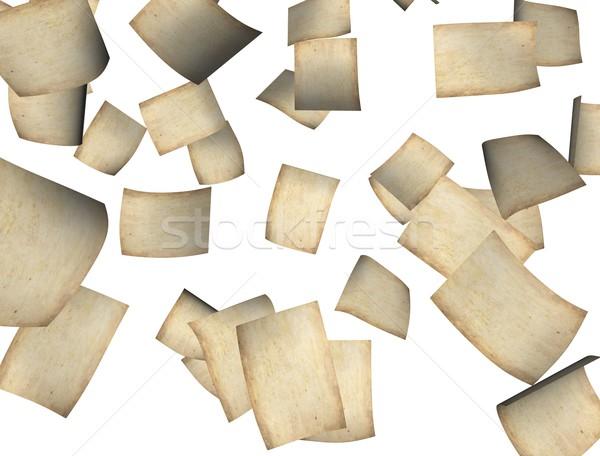 下がり 紙 3D レンダリング 画像 古い紙 ストックフォト © OneO2