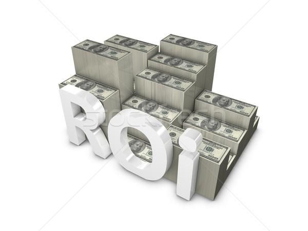 Visszatérés beruházás 3D renderelt kép roi izolált Stock fotó © OneO2