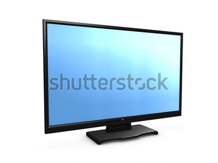 Hdtv 3D görüntü televizyon izlemek ekran Stok fotoğraf © OneO2