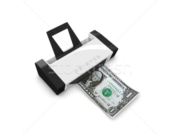 Money printer Stock photo © OneO2