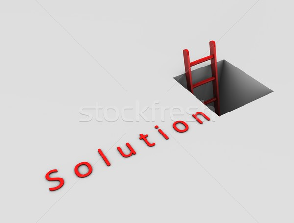 Way out to solution Stock photo © OneO2