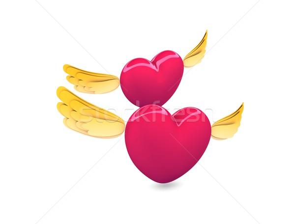 Flying heart Stock photo © OneO2