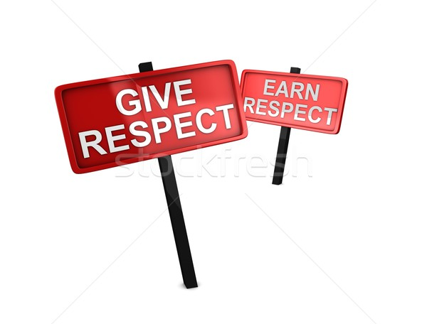 Stock photo: Give respect