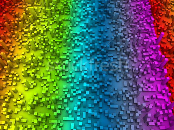 Abstract cubes Stock photo © OneO2