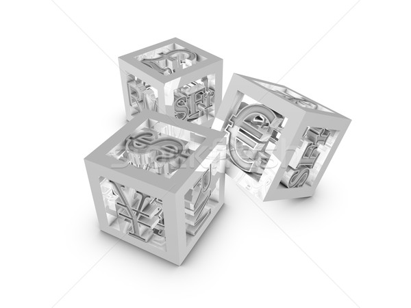 Cube currency Stock photo © OneO2