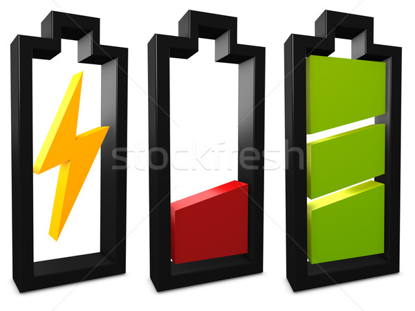 Battery icon Stock photo © OneO2