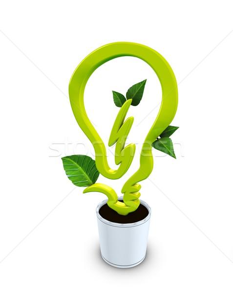 3D görüntü temiz enerji ışık temizlemek ampul Stok fotoğraf © OneO2