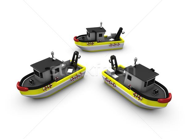 Fish boat Stock photo © OneO2