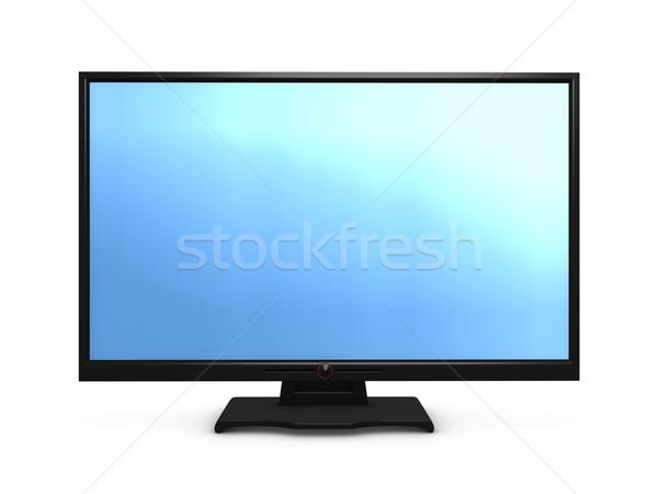Hdtv 3D görüntü geniş ekran tv televizyon Stok fotoğraf © OneO2