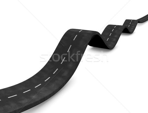Waving road Stock photo © OneO2