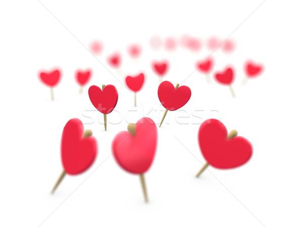 Heart wood-sticky Stock photo © OneO2