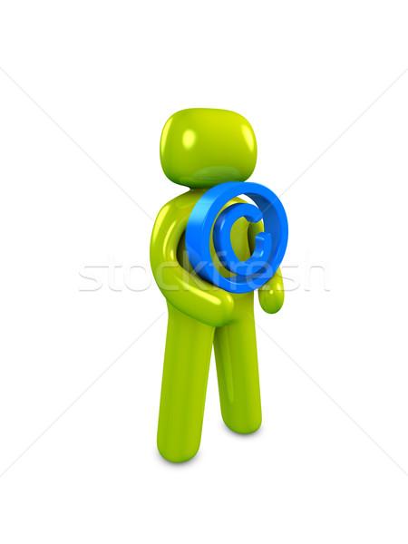 Droit d'auteur 3D image signe internet site Photo stock © OneO2