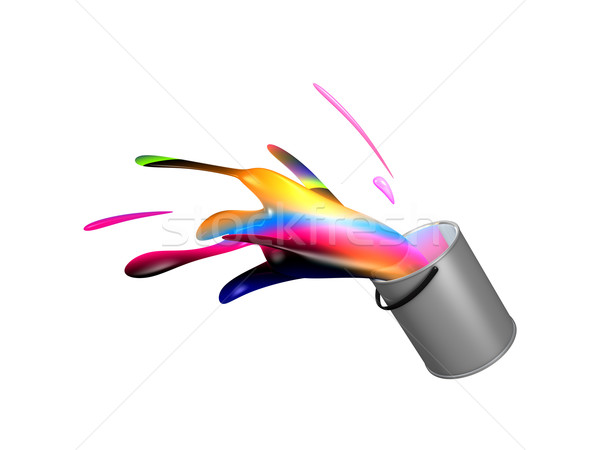 Stock photo: 3d image, conceptual Paint splash