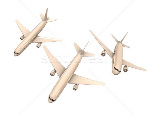 Vliegmaatschappij 3D afbeelding maat vliegtuig technologie Stockfoto © OneO2