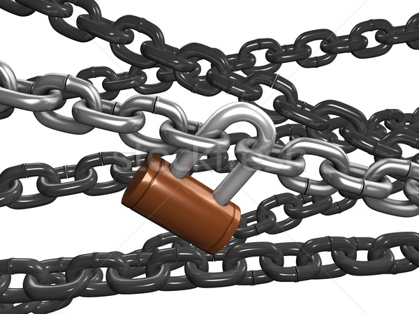 Chain Lock Stock photo © OneO2