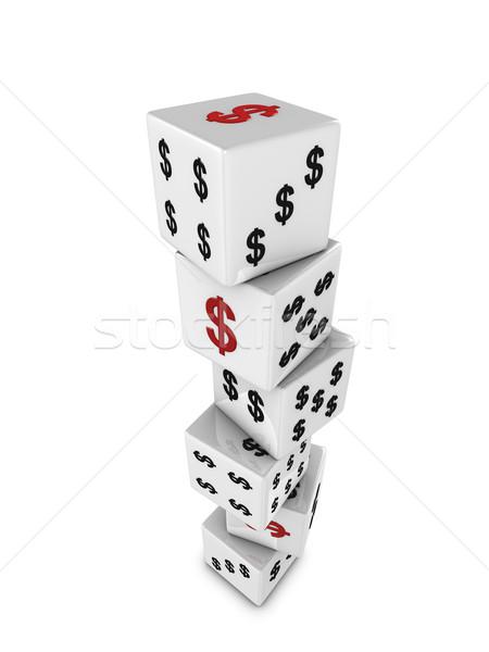 Dollar dice Stock photo © OneO2
