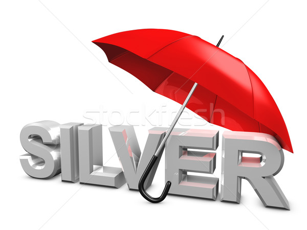 Silver umbrella Stock photo © OneO2