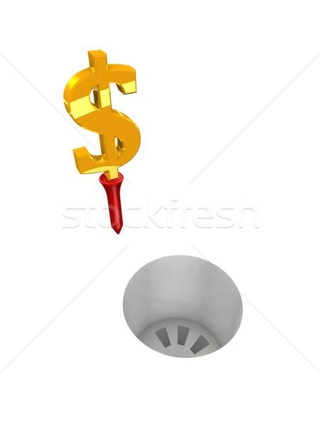 Dollar golf Stock photo © OneO2