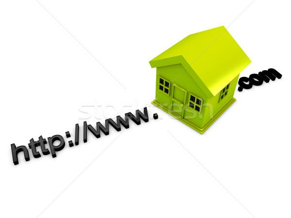 3D imagen dirección casa negocios Foto stock © OneO2