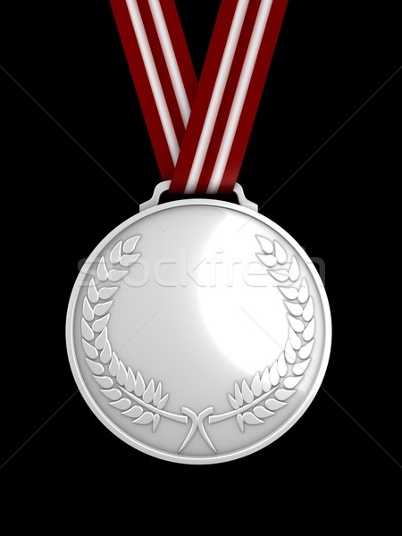 Silver medal Stock photo © OneO2