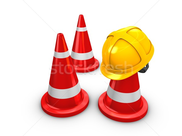 Safety hart and Cones Stock photo © OneO2