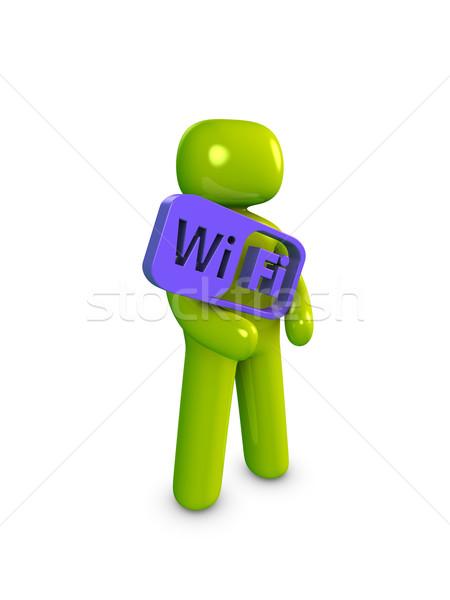Icon guy, Wifi Stock photo © OneO2