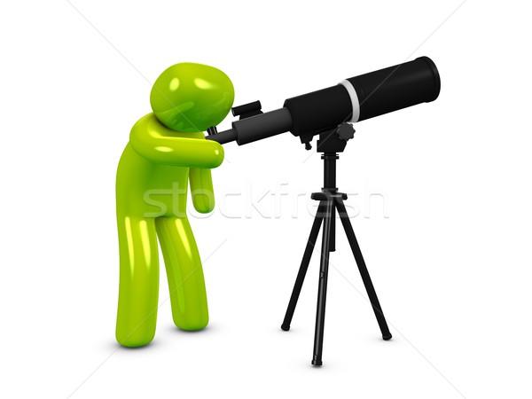 Astronomia 3D obraz star oglądać wyszukiwania Zdjęcia stock © OneO2