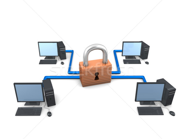 Stock photo: Secure network