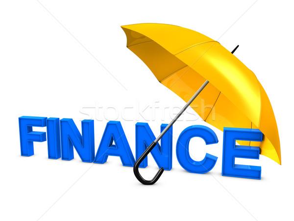 Finance umbrella Stock photo © OneO2