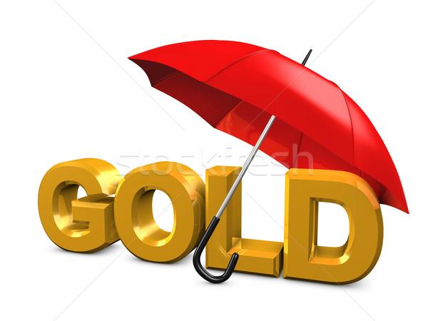 Gold umbrella Stock photo © OneO2