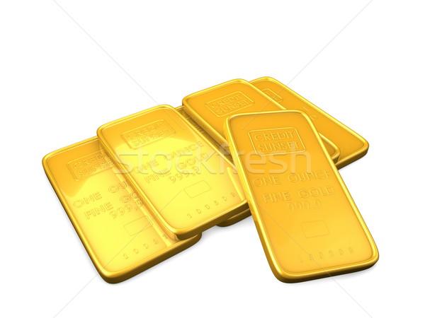 Gold bars Stock photo © OneO2