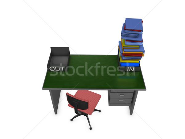 Kadar görev 3D görüntü ofis sandalye Stok fotoğraf © OneO2