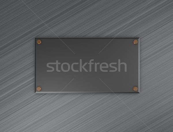 Metal plate Stock photo © OneO2