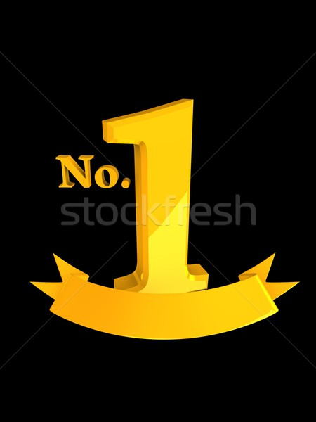 Top rangschikken 3D afbeelding goud badge Stockfoto © OneO2