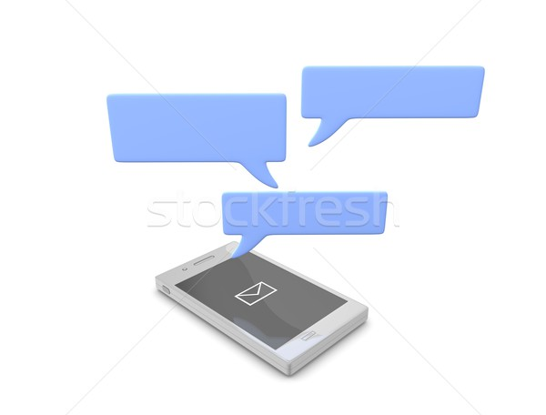 Smartphone chat Stock photo © OneO2